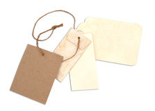 Blank tag tied with brown string Royalty Free Stock Photo