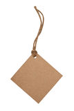 Blank tag tied with brown string stock images