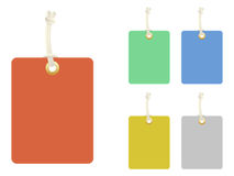 Blank Tags. A set of five blank tags Stock Photos