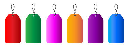 Blank tags. Illustration of colorful Blank tags collection royalty free illustration