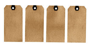 Blank tags. Isolated on a white background. High resolution scan Royalty Free Stock Photography