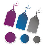 Blank tags and stickers. Color blank tags and stickers royalty free illustration