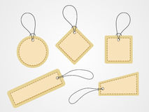 Blank tags, stickers or labels. Stock Photography