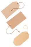 Blank Tags Tied With Brown String. Royalty Free Stock Images