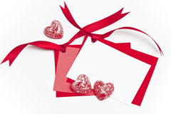Blank tags and Valentine Heart's Royalty Free Stock Images