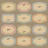 blank tappning för vektor för etikettset Royaltyfri Illustrationer
