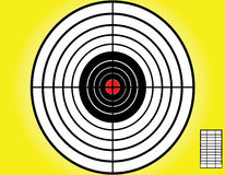 Blank target sport. For shooting competition on yellow background.vector Stock Photo