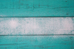 Blank teal blue worn wood sign with sand texture Stock Images