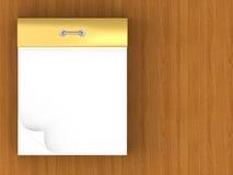 Blank Tear-off Calendar Royalty Free Stock Image