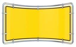 blank teckenvarning Böjda 3D framför Arkivbild