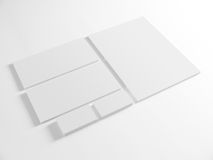 Blank template for branding identity on white Stock Photo