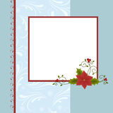 Blank template for Christmas greetings card. Postcard or photo farme Stock Image