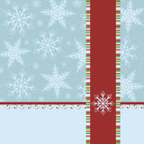 Blank template for Christmas greetings card Stock Image
