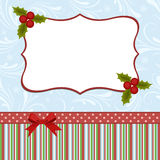 Blank template for Christmas greetings card. Postcard or photo farme Royalty Free Stock Image