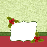 Blank template for Christmas greetings card Royalty Free Stock Photos