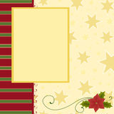 Blank template for Christmas greetings card. Postcard or photo farme Royalty Free Stock Images