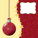 Blank template for Christmas greetings card Stock Photos