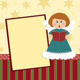 Blank template for Christmas greetings card. Postcard or photo frame Royalty Free Stock Photos