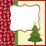 Blank template for Christmas greetings card. Postcard or photo frame Stock Image