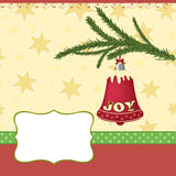 Blank template for Christmas greetings card Stock Photo