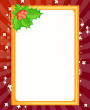 Blank template for Christmas greetings card Stock Images