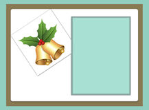 Blank template for christmas greetings card Royalty Free Stock Photography