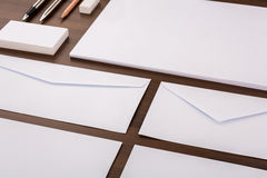 Blank Template. Consist of Business cards, letterhead a4, pen, e Stock Image
