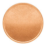 Blank template for copper coin or medal Royalty Free Stock Photo