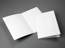 Blank template of folded brochure A4 Size. On a gray background Stock Image