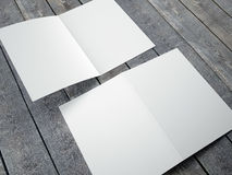 Blank template of folded brochure A4 Size Stock Photography