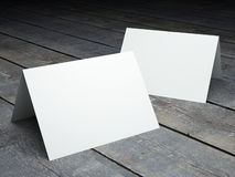 Blank template of folded postcard Stock Photography