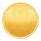 Blank template for gold coin or medal. With metal texture Stock Image