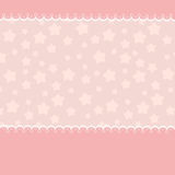 Blank template for greetings card. In pink colors Royalty Free Stock Photography