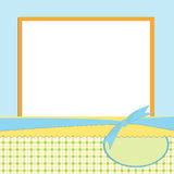 Blank template for greetings card Stock Image