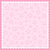 Blank template for greetings card. Or photo frame in pink colors Stock Images