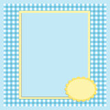 Blank template for greetings card. Or photo frame in blue colors Stock Photos