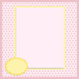 Blank template for greetings card Royalty Free Stock Photos