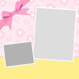 Blank template for greetings card Stock Photos