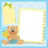Blank template for greetings card Stock Photography