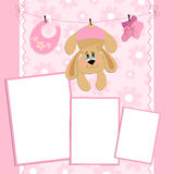 Blank template for greetings card Royalty Free Stock Image