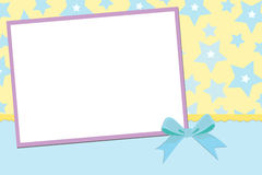 Blank template for greetings card Royalty Free Stock Photo