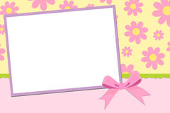 Blank template for greetings card Royalty Free Stock Images