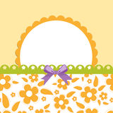 Blank template for greetings card stock illustration