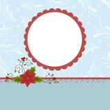 Blank template for greetings card. Blank template for Christmas greetings card, postcard or photo farme Stock Photos