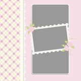 Blank template for greetings card. Postcard or photo frame Royalty Free Stock Photos