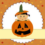 Blank template for halloween greetings card Stock Image