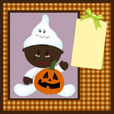 Blank template for halloween greetings card Royalty Free Stock Image