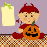 Blank template for halloween greetings card Stock Photo