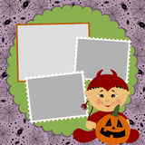 Blank template for Halloween photo frame Royalty Free Stock Photos