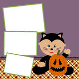 Blank template for Halloween photo frame Royalty Free Stock Photo